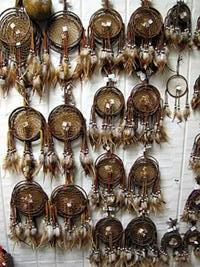 "POW WOW FAVORITE ! 15 - 5"" All Leather Hand Made Dream Catchers ! Only $3.75 ea.!"