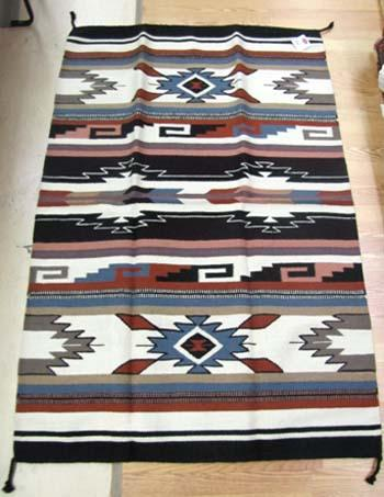 TASTE OF THE SOUTHWEST! Hand woven Wool 4'x 6' Rug !