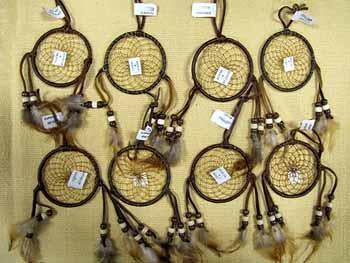 "LEATHER DREAM CATCHERS ! 15 - 3"" Hand Made Dream Catchers ! Only $2.25"