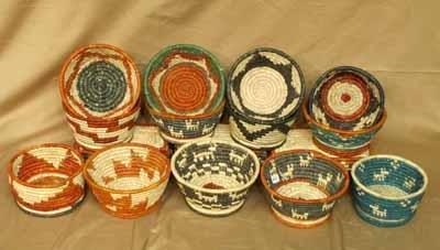 12-Pack Southwest Fine Coiled Key Baskets! WHOLESALE-  $4.50 Ea. !