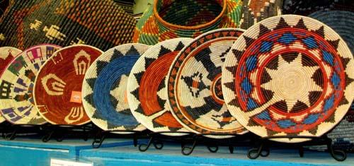 NEW SHIPMENT NEW DESIGNS AND COLORS ! 12 Hand Crafted Southwest Style Baskets!