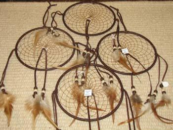 "GIFT SHOP SPECIAL! Popular 5"" Leather Dream Catchers !"