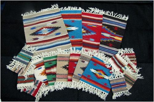68 Piece Handwoven Wool Mats & Coaster Package! WHOLESALE $2.34 ea!