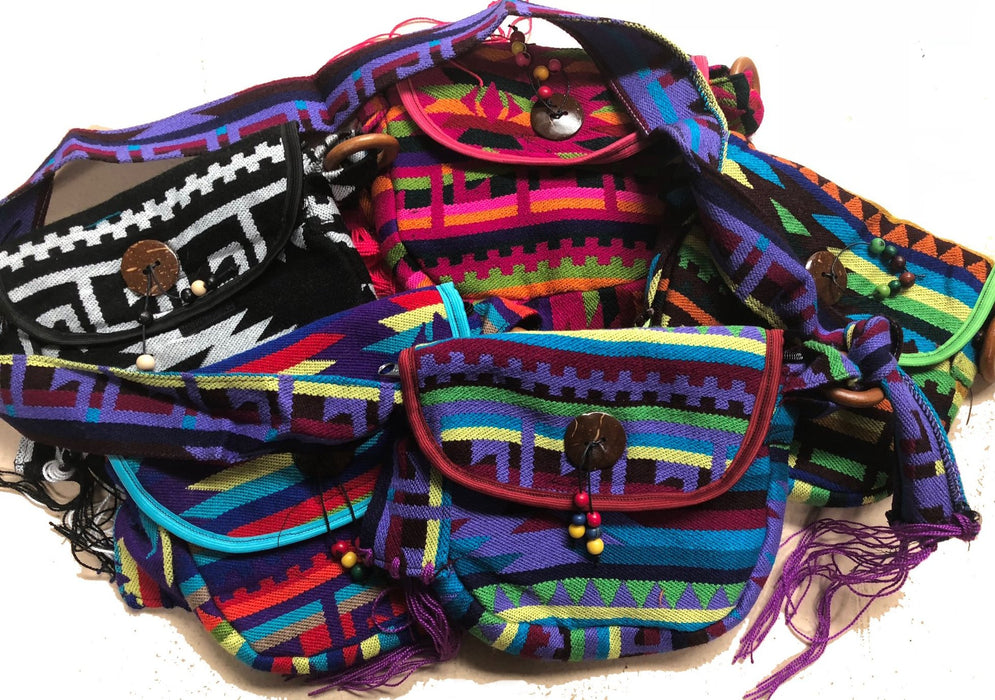 New Item !  6 Hand Made Guatemalan Southwest Bags ! Wholesale $9.50