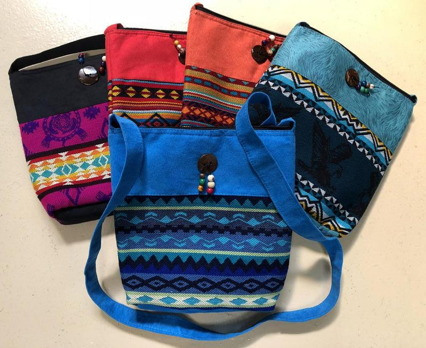 NEW !  6 Colorful SouthWest Style Carry all Purses !  Wholesale $12.50