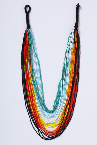 Multi-Colored Tiered Necklace