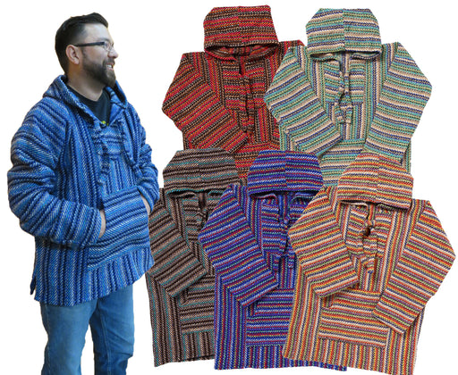 24 Assorted Premium Grade Baja Pullovers! Wholesale $8.00 ea.