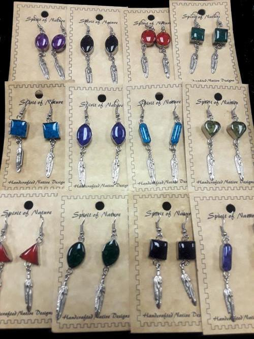 18 pc. Hand Crafted Inlay Earrings ! Wholesale $2.40 ea.!