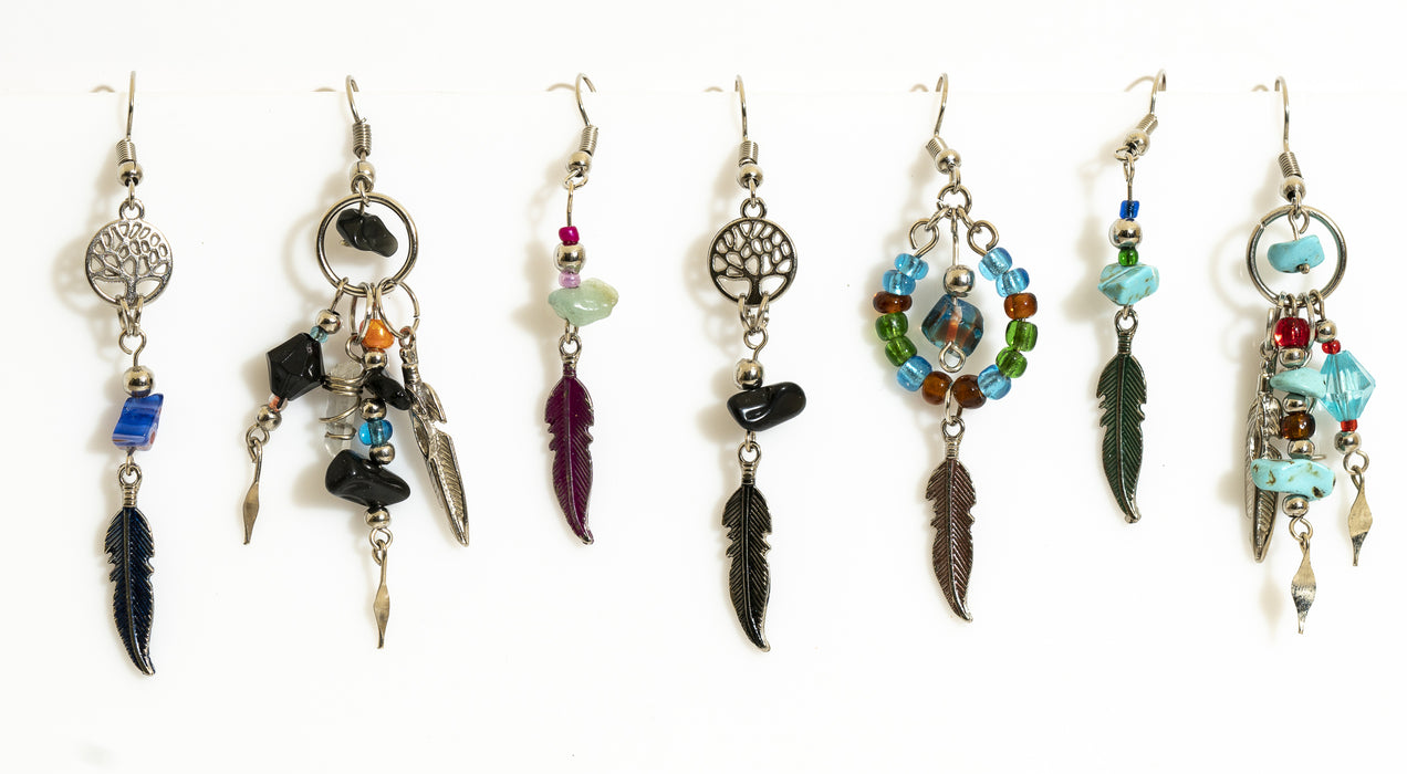 Handcrafted Metal Feather Earrings