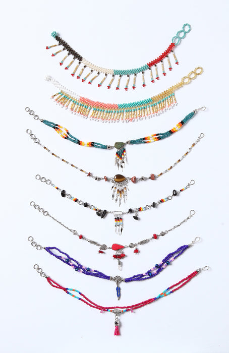 Handcrafted Southwest Style Beaded Anklets from El Paso Saddleblanket