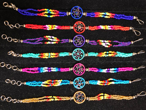 NEW!  24 - Southwest Style Beaded Dream Catcher Bracelets!  Wholesale $2.50 ea!