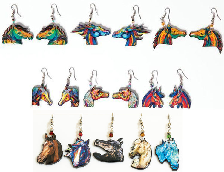 Hand Crafted Horse Earrings !