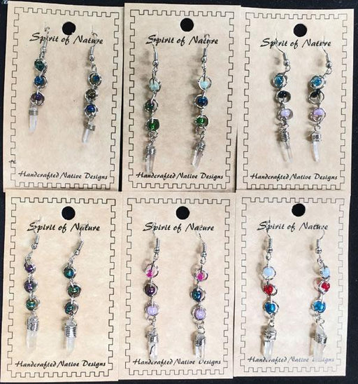 15 Popular Colorful Crystal Earrings! WHOLESALE $2.75 ea!