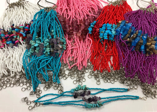 SUPER SALE !  24 Assorted Beaded/Nugget Bracelets !  Wholesale $1 each!