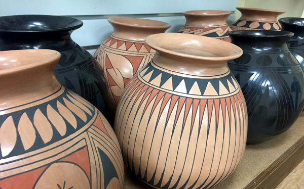 NEW !  4 Large Authentic Casas Grandes Pots From Mexico !  Wholesale $36 ea.!