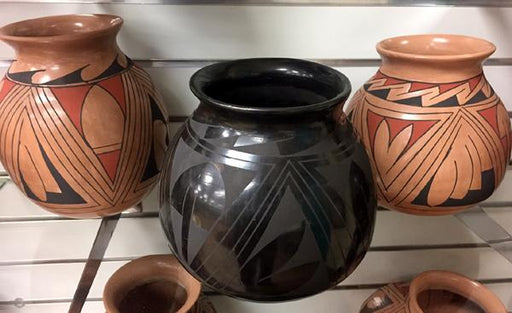 New !  4 Medium Casa Grandes Pottery from Mexico! Wholesale $20 ea.!