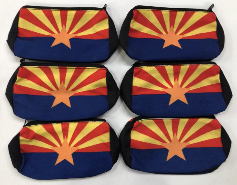 NEW!  10 pc. Arizona 5X7 Cosmetic bags !   Wholesale only $2.00 ea.