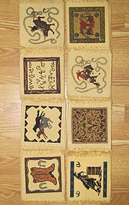 72 Prepack of 6x6 Cowboy Design Coasters package