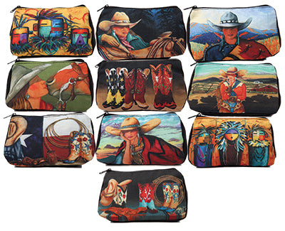Southwest & Western Cosmetic Bags- 10 Pack