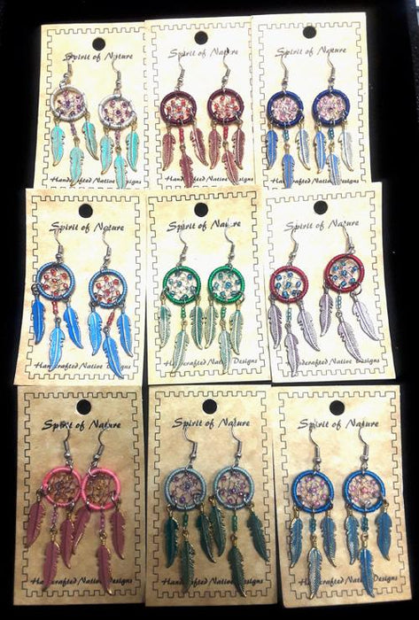 24 PC. Dream Catcher Earrings!  Wholesale $2.50 ea.!