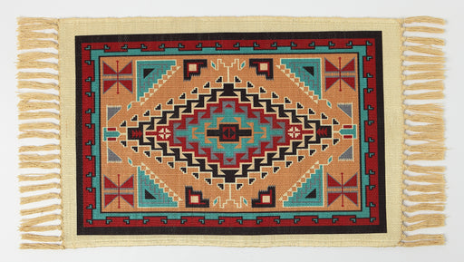 Southwest Digitally Printed Placemat in a Geometric Design from El Paso Saddleblanket