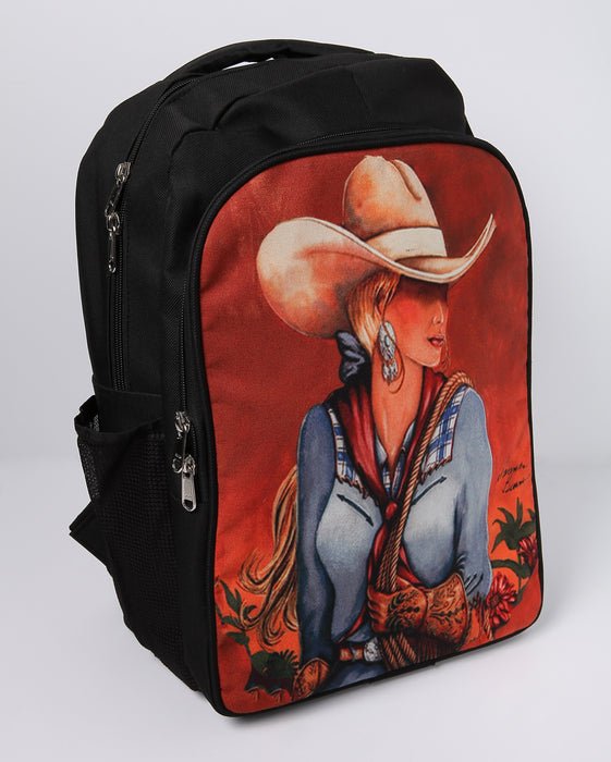Western Cowgirl Print Backpack from El Paso Saddleblanket