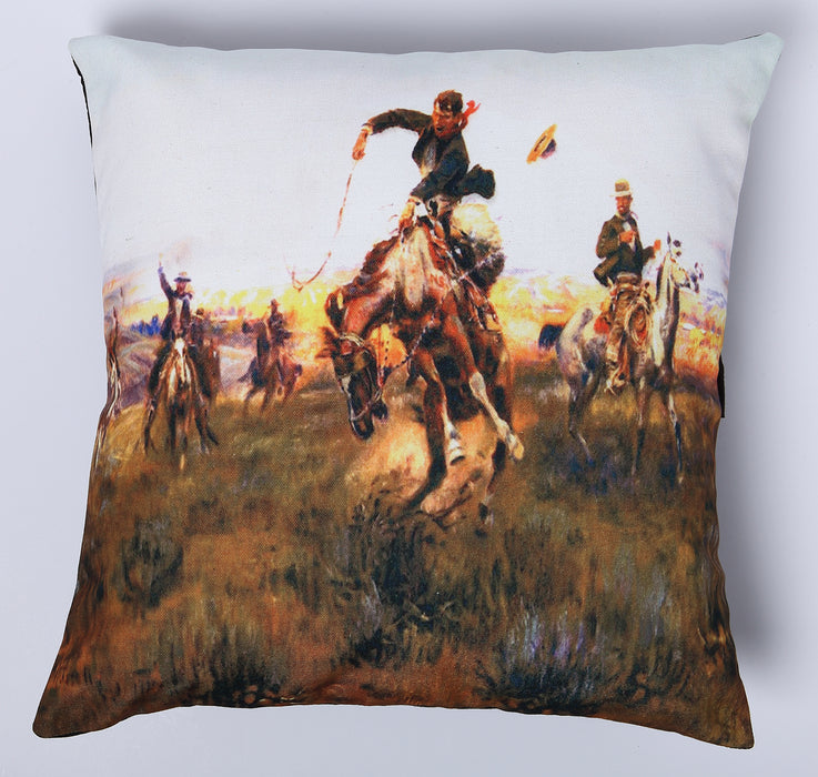 Digital Print Pillow Cover  in design #214 from El Paso Saddleblanket