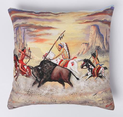 Digital Print Pillow Cover  in design #504 from El Paso Saddleblanket