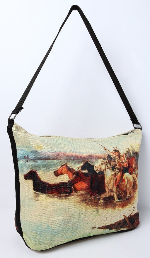 Digital Print Purse, CM Russell Crossing the Range Design from El Paso Saddleblanket