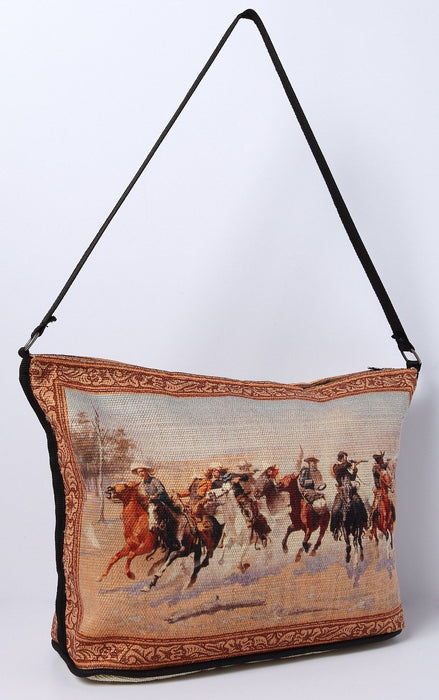 Digital Print Purse, Fredric Remington A Dash to the Timber Design from El Paso Saddleblanket