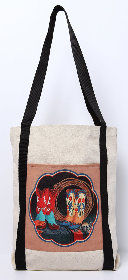 Digital Print Canvas Tote Bag 100B