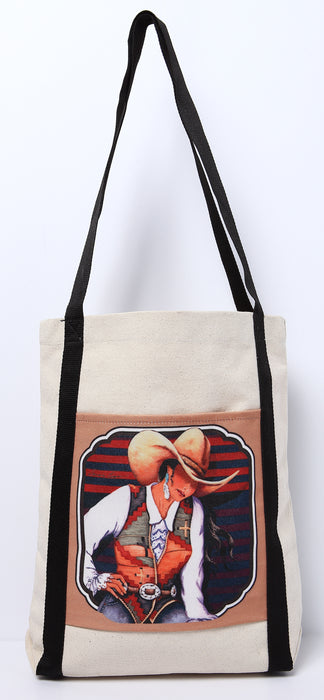 Digital Print Canvas Tote Bag 113