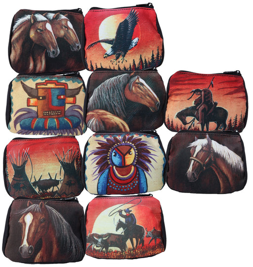New Southwest Print Coin Bags- 10 Pack