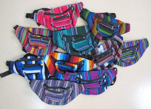 12-Guatemalan Fanny Packs!! Wholesale $5.50 each!