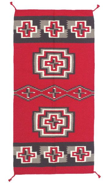 32 x 64 Southwest Pattern Wool Rug
