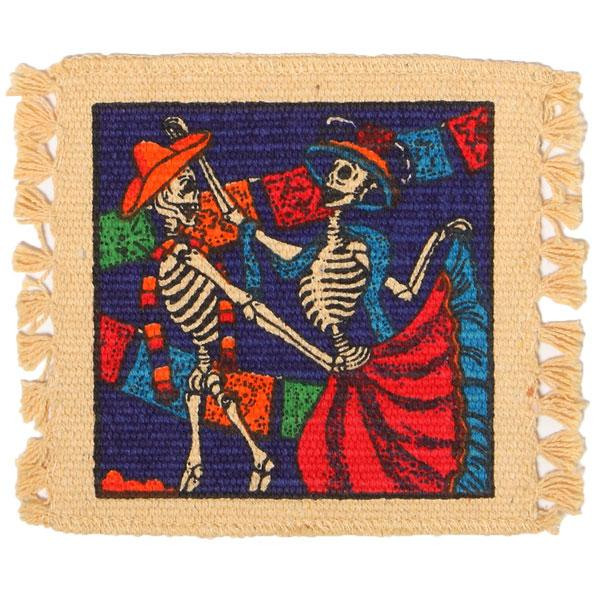 Cotton Stencil Coaster-Day of the Dead Design