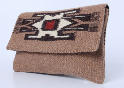 Southwest Wool Chimayo-Style Clutch Purse in design A