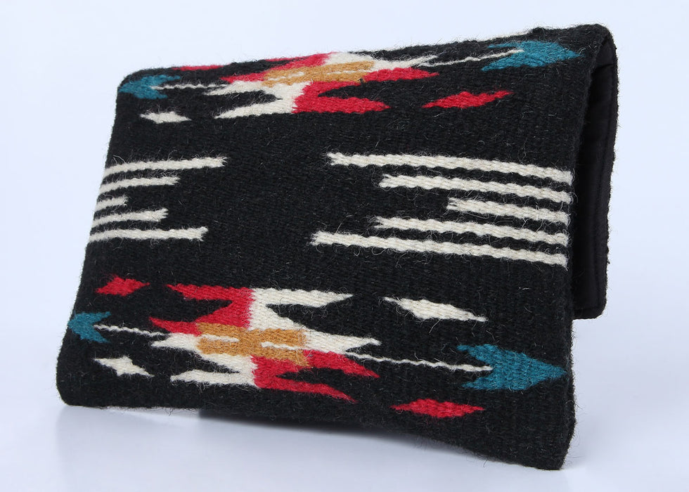 Southwest Wool Chimayo-Style Clutch Purse in design B, back side