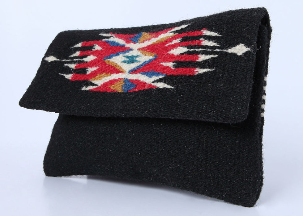 Southwest Wool Chimayo-Style Clutch Purse in design B