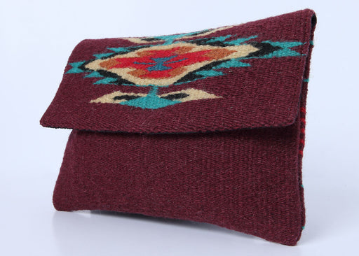 Southwest Wool Chimayo-Style Clutch Purse in design E