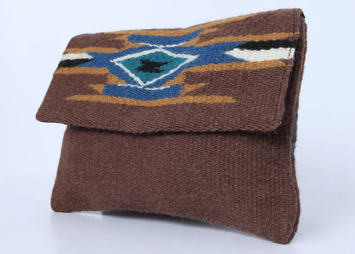 Southwest Wool Chimayo-Style Clutch Purse in design F