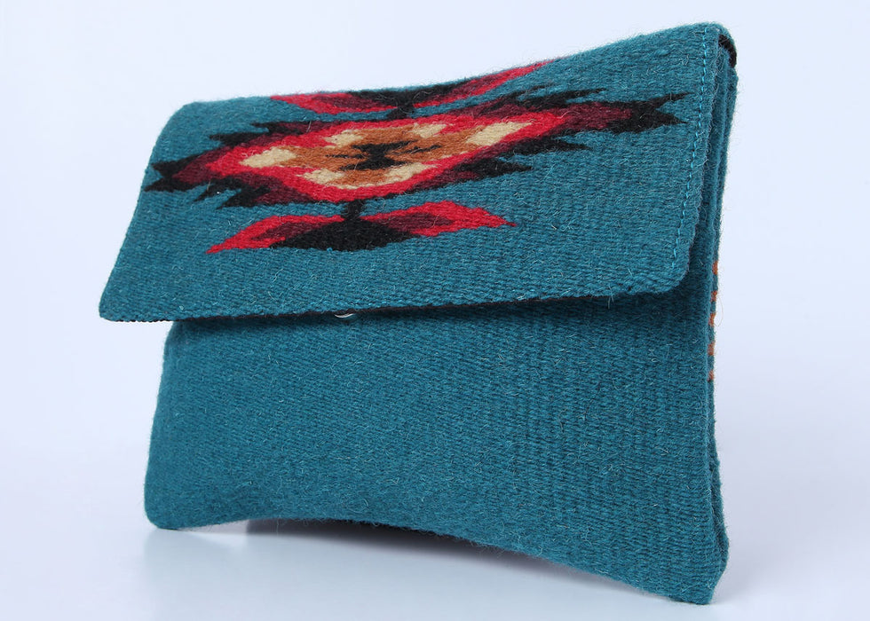 Southwest Wool Chimayo-Style Clutch Purse in design G