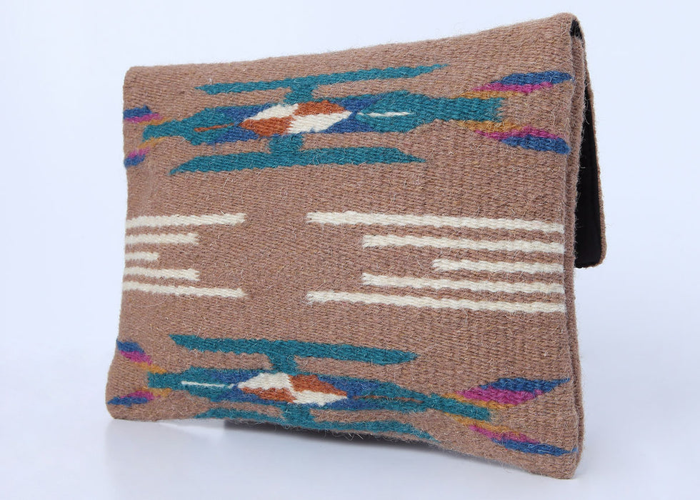 Southwest Chimayo-Style Clutch Purse in design H, back side