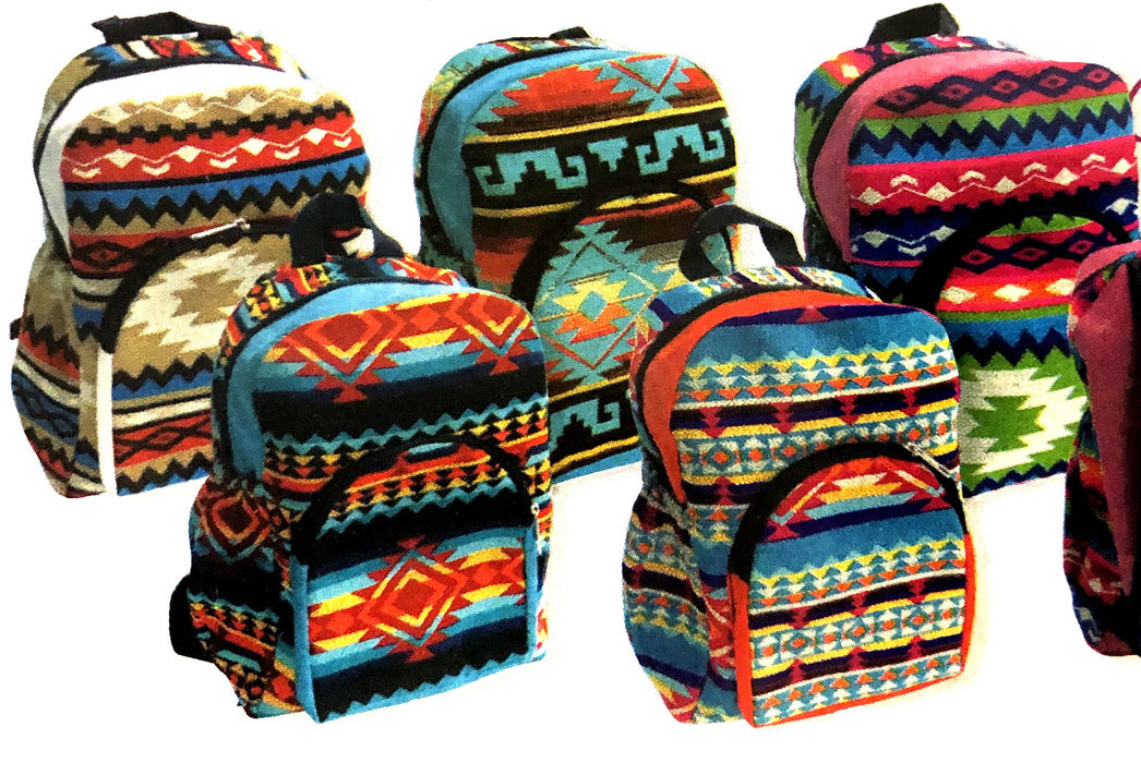 3 Southwestern Youth Backpacks  ! Wholesale $17.50 ea.!