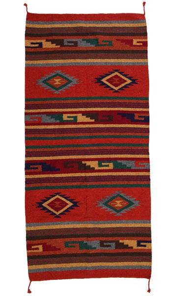 "32"" x 64"" Southwest Pattern Wool Rug"