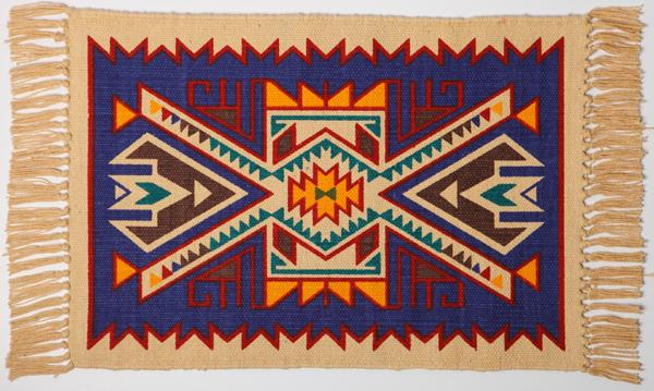 Cotton Stencil Placemat- Southwest Design