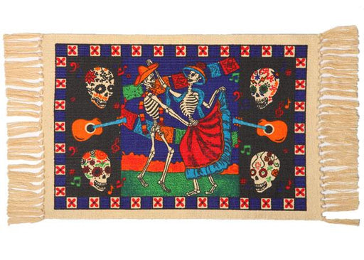 Cotton Stencil Placemat - Day of the Dead 201