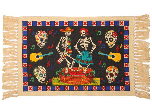 Cotton Stencil Placemat - Day of the Dead 202