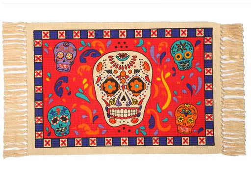 Cotton Stencil Placemat - Day of the Dead 203