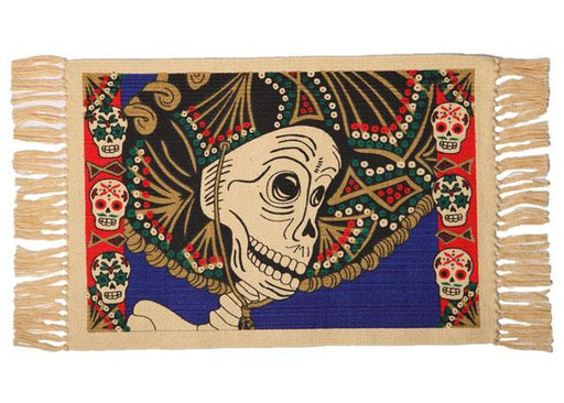 Cotton Stencil Placemat - Day of the Dead 204